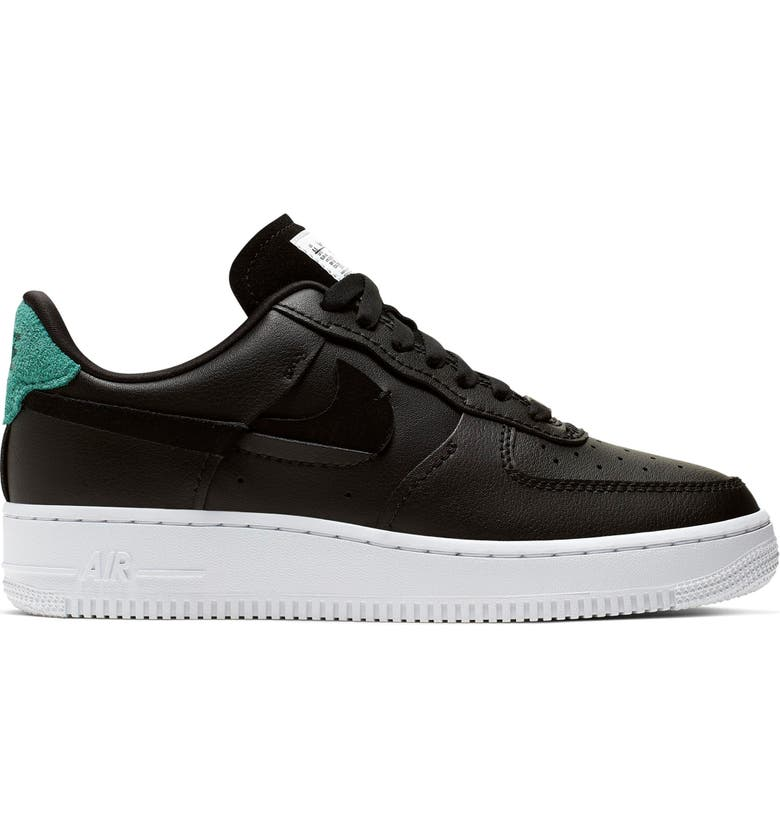 NIKE Air Force 1 '07 LX Sneaker, Main, color, BLACK/ ANTHRACITE/ GREEN