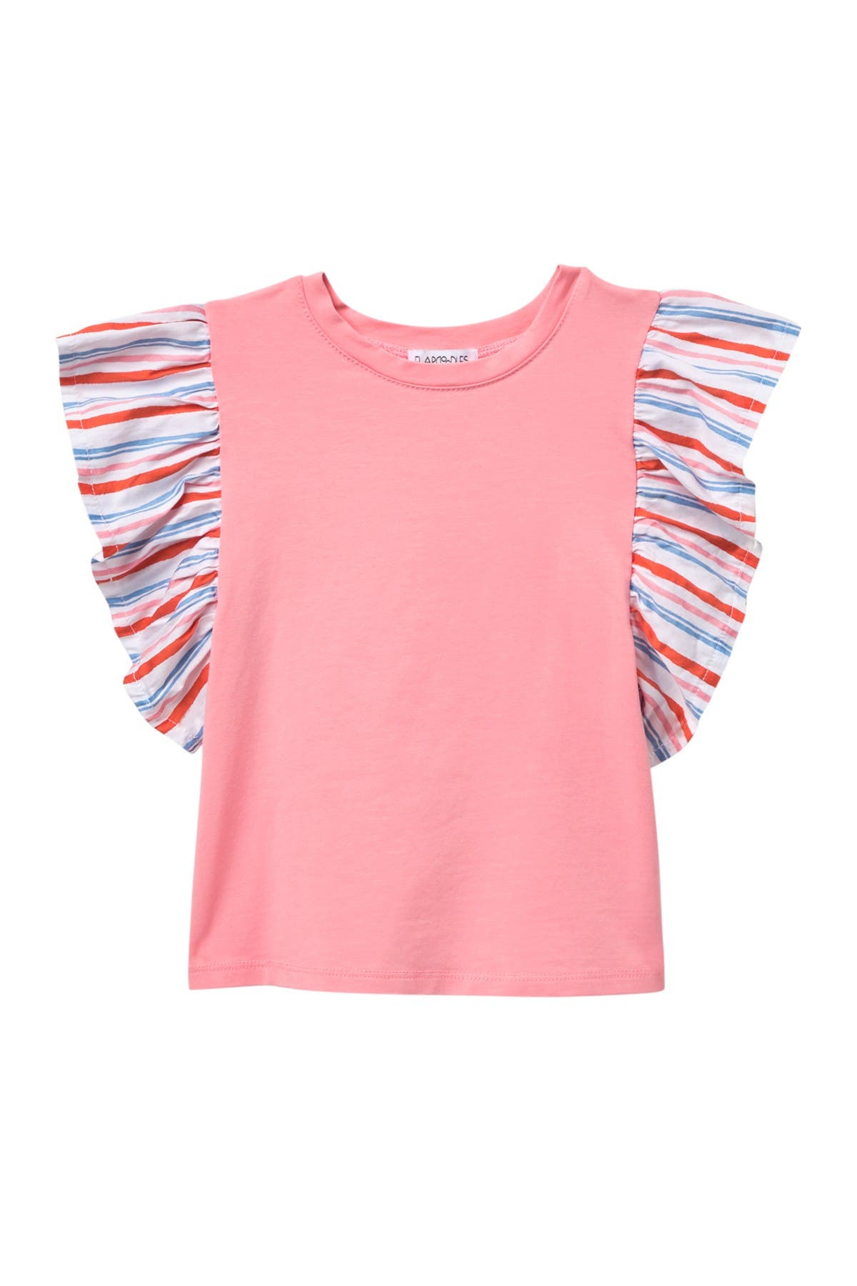 Flapdoodles Girls Flutter Sleeve Top