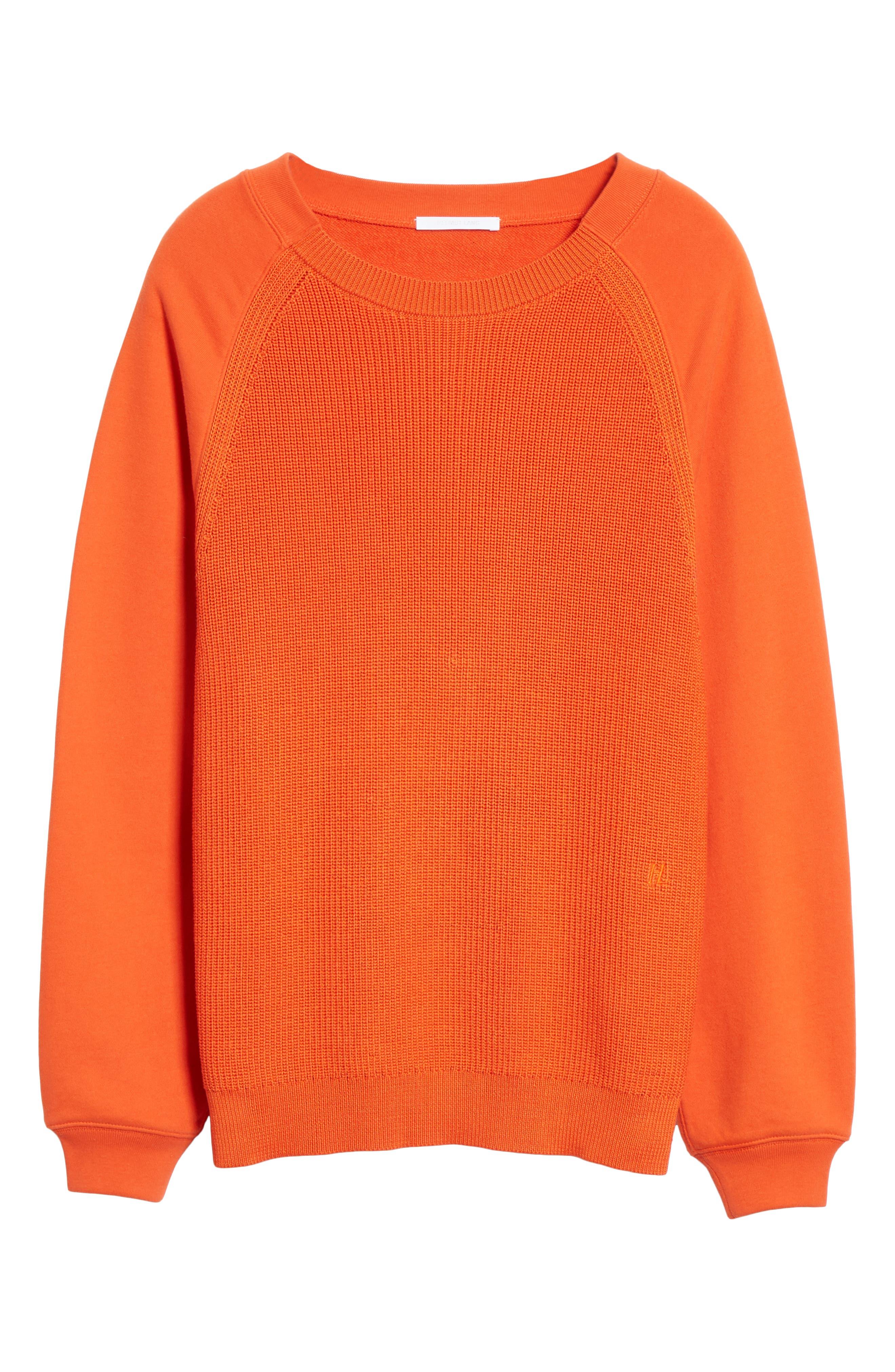 ,                             Sweater Panel Sweatshirt,                             Alternate thumbnail 6, color,                             MAGMA