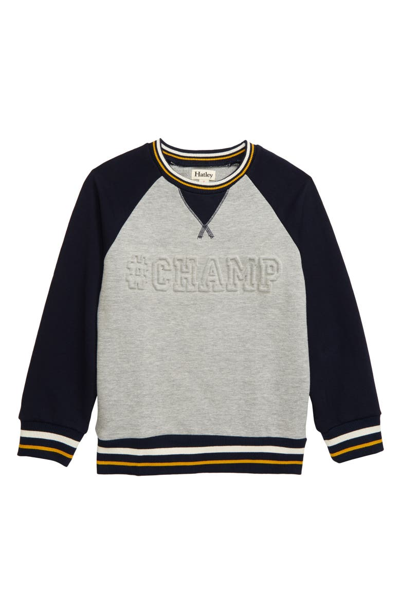 HATLEY Champ Sweatshirt, Main, color, GREY