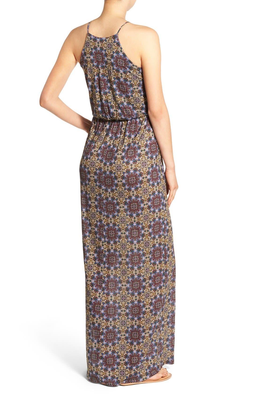 ,                             High Neck Maxi Dress,                             Alternate thumbnail 80, color,                             300
