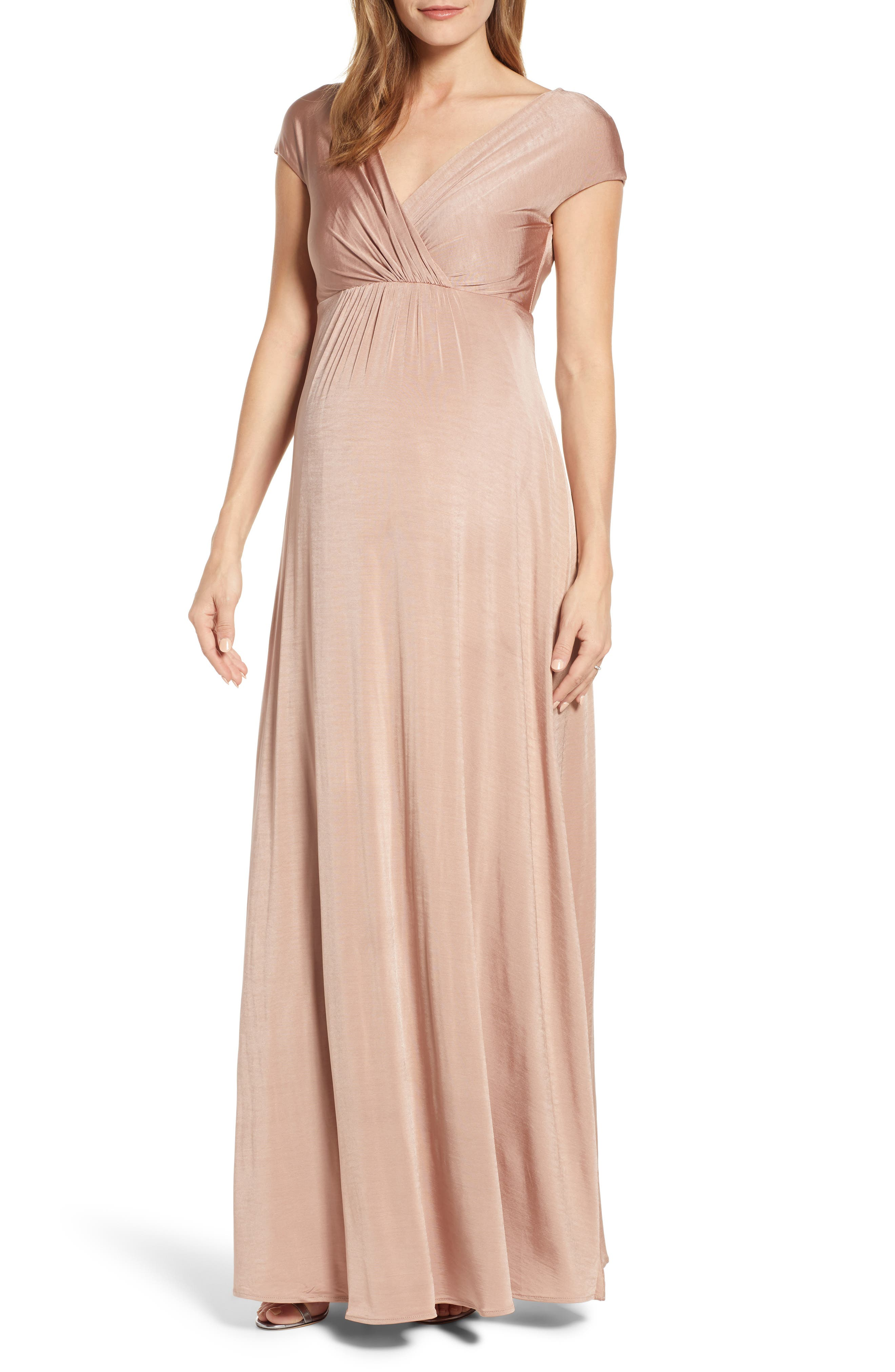 Tiffany Rose Francesca Maternity/nursing Maxi Dress, Pink