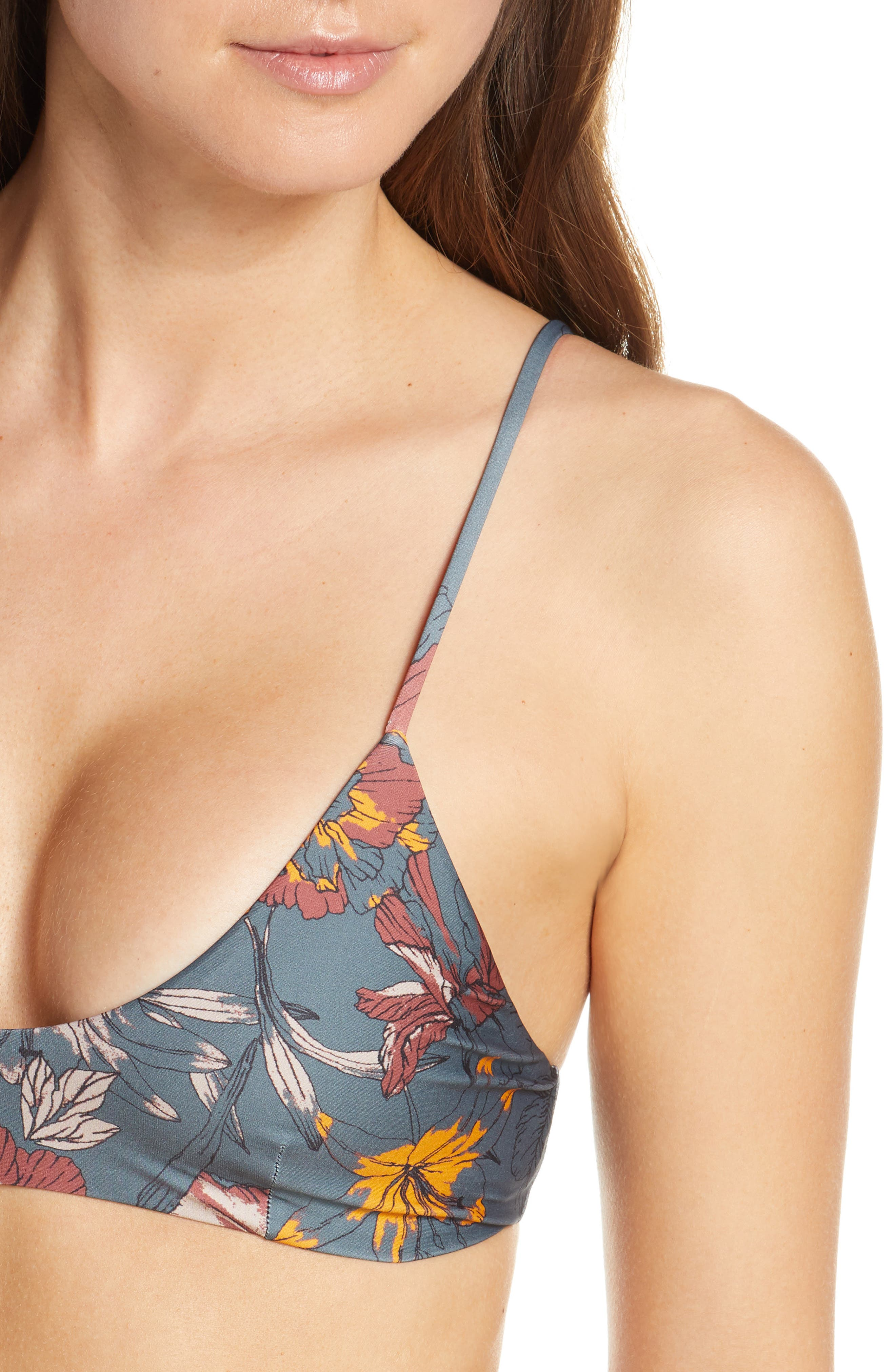 ,                             Nahla Bralette Bikini Top,                             Alternate thumbnail 5, color,                             TURBULENCE GREY FLORAL