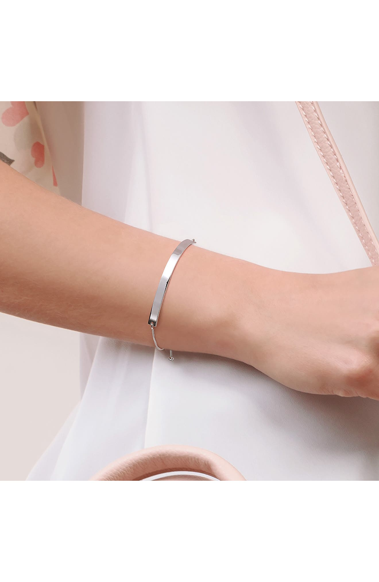 Image of Bling Jewelry Sterling Silver ID Band Bolo Bracelet