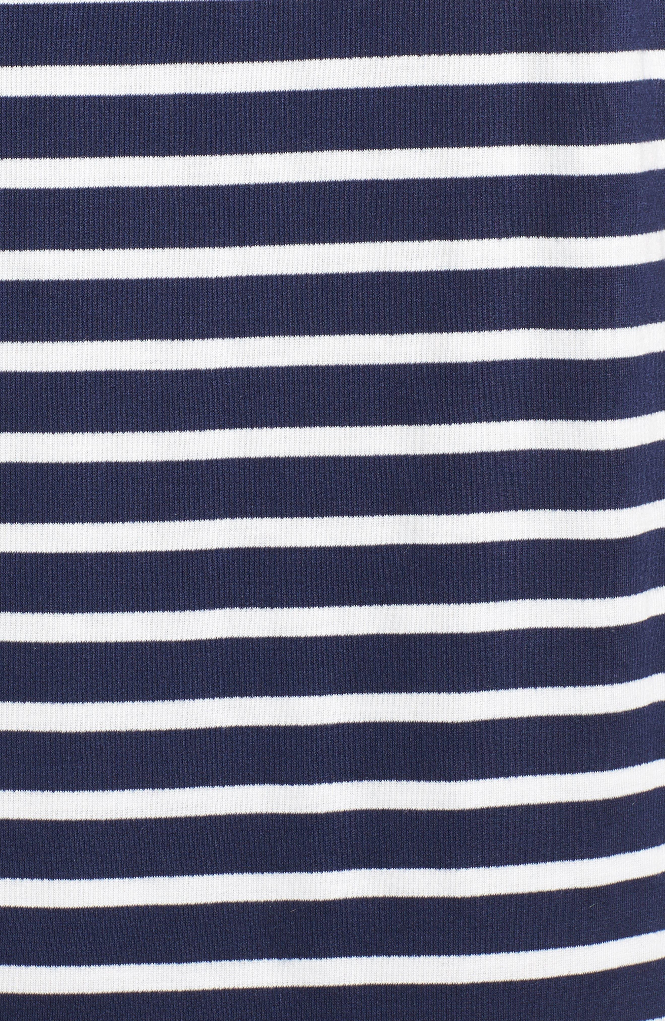 ,                             Knit Shift Dress,                             Alternate thumbnail 6, color,                             NAVY- WHITE CONSTANZA STRIPE
