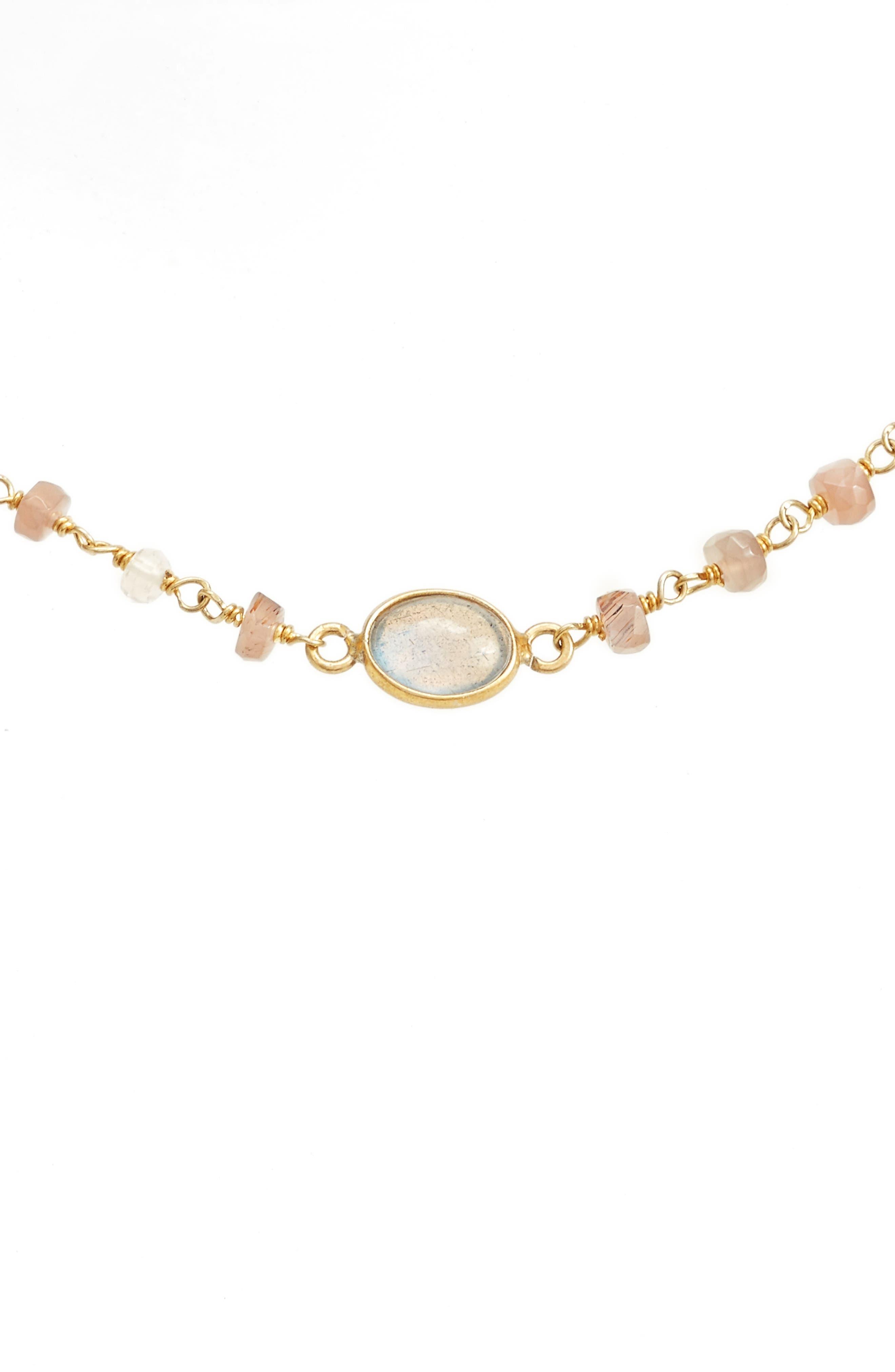 Libi Semiprecious Stone Collar Necklace