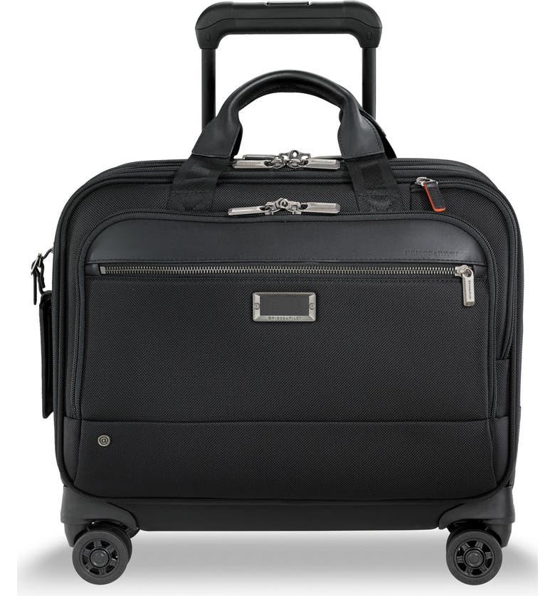 BRIGGS & RILEY @work Medium Wheeled Briefcase, Main, color, BLACK