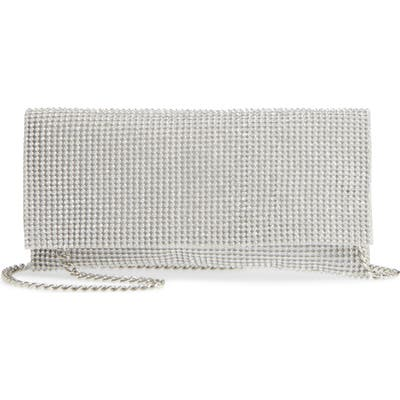 Nina Jazalyn Crystal Mesh Clutch - Metallic