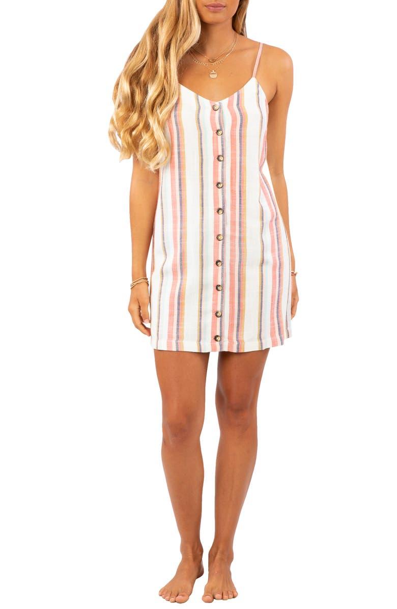 RIP CURL Seaport Stripe Minidress, Main, color, MULTI