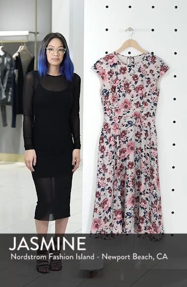 Julia Seersucker Midi Dress, sales video thumbnail