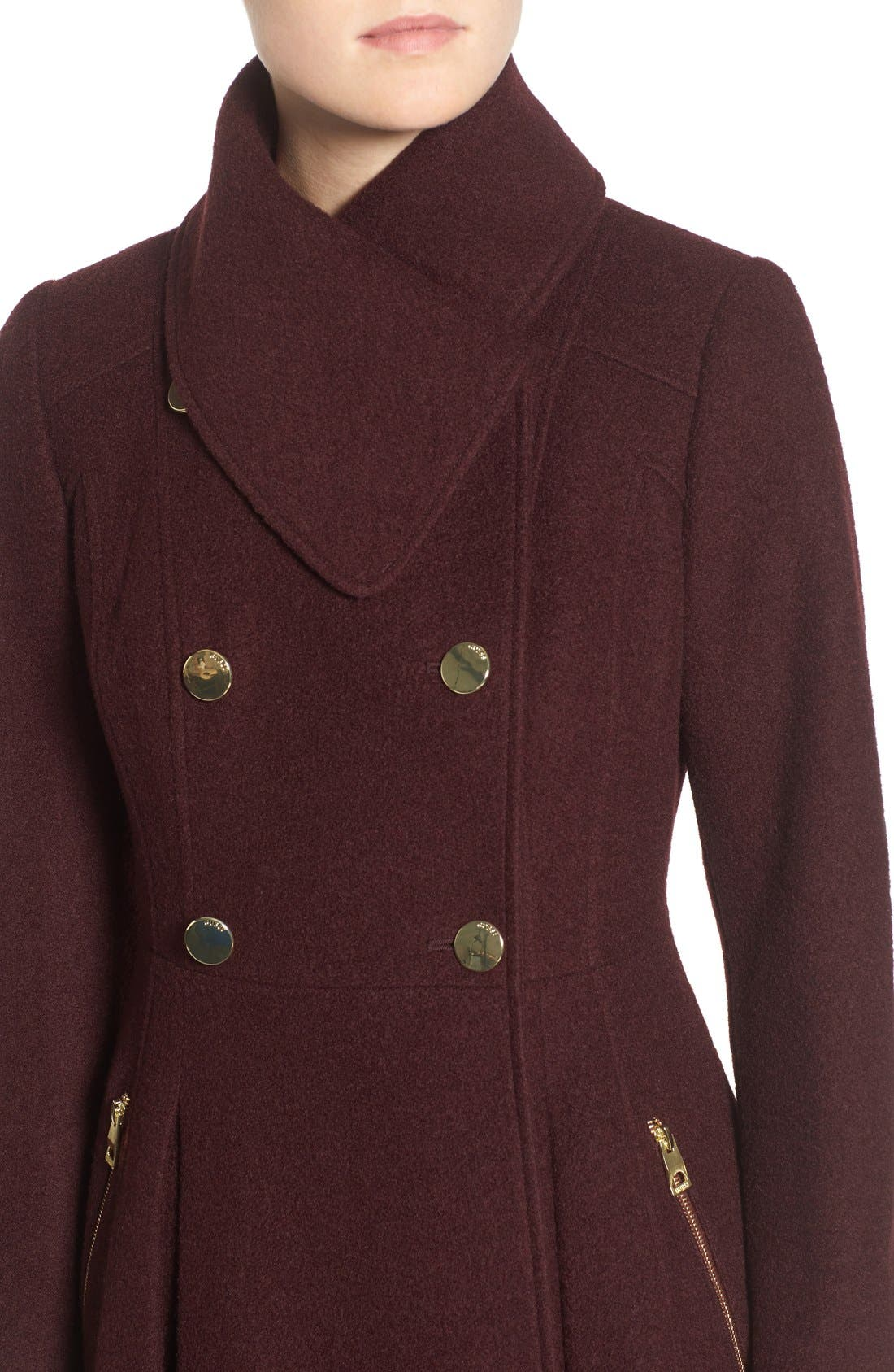 ,                             Envelope Collar Double Breasted Coat,                             Alternate thumbnail 20, color,                             605