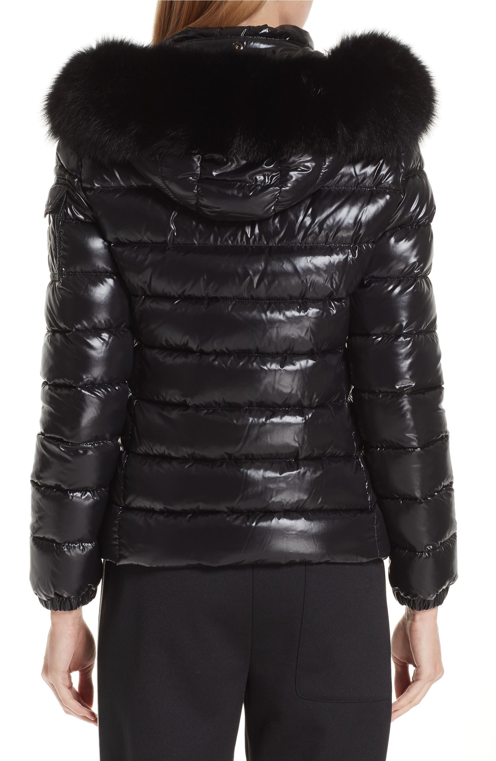 2000fa55e Badyfur Down Puffer Jacket with Detachable Genuine Fox Fur Trim