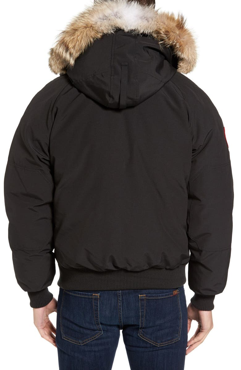b4d15d697 'Chilliwack' Down Bomber Jacket with Genuine Coyote Trim