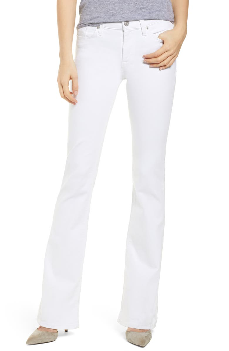 HUDSON JEANS Drew Bootcut Jeans, Main, color, WHITE