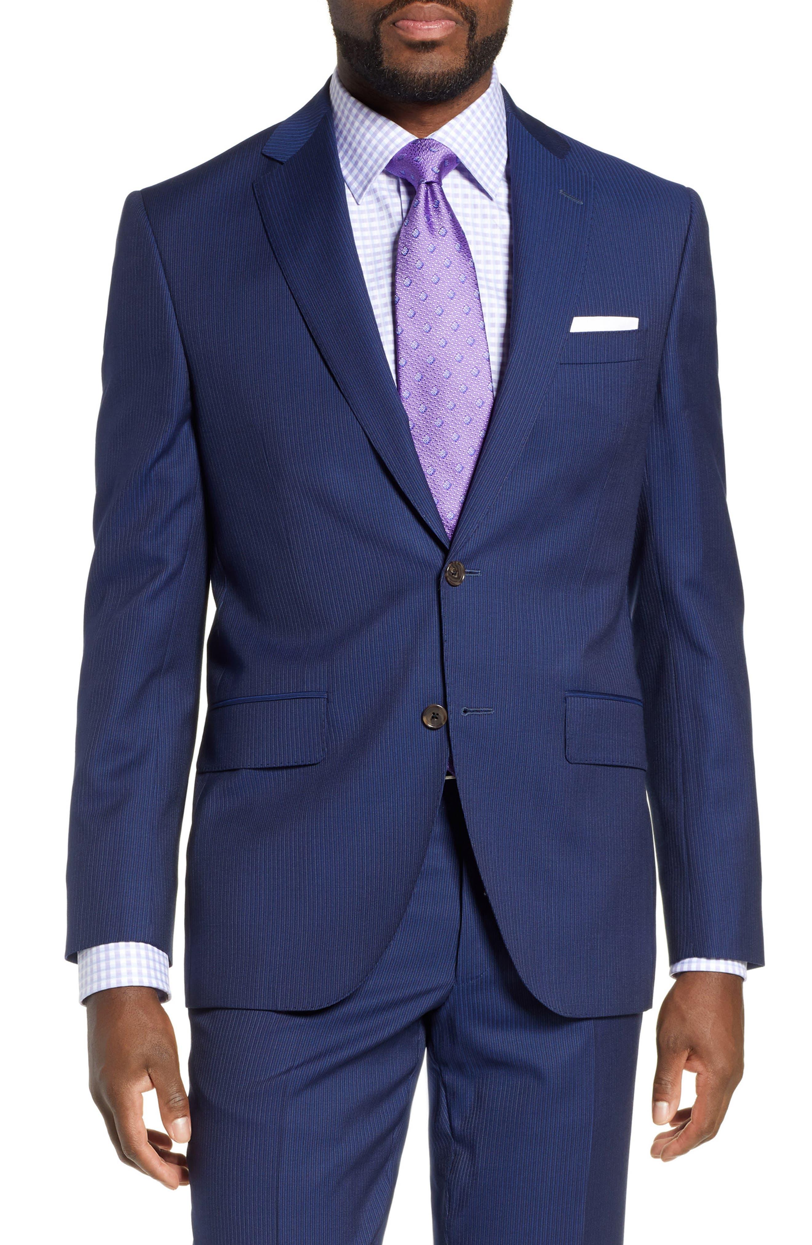 ,                             Ryan Classic Fit Stripe Wool Suit,                             Alternate thumbnail 5, color,                             410