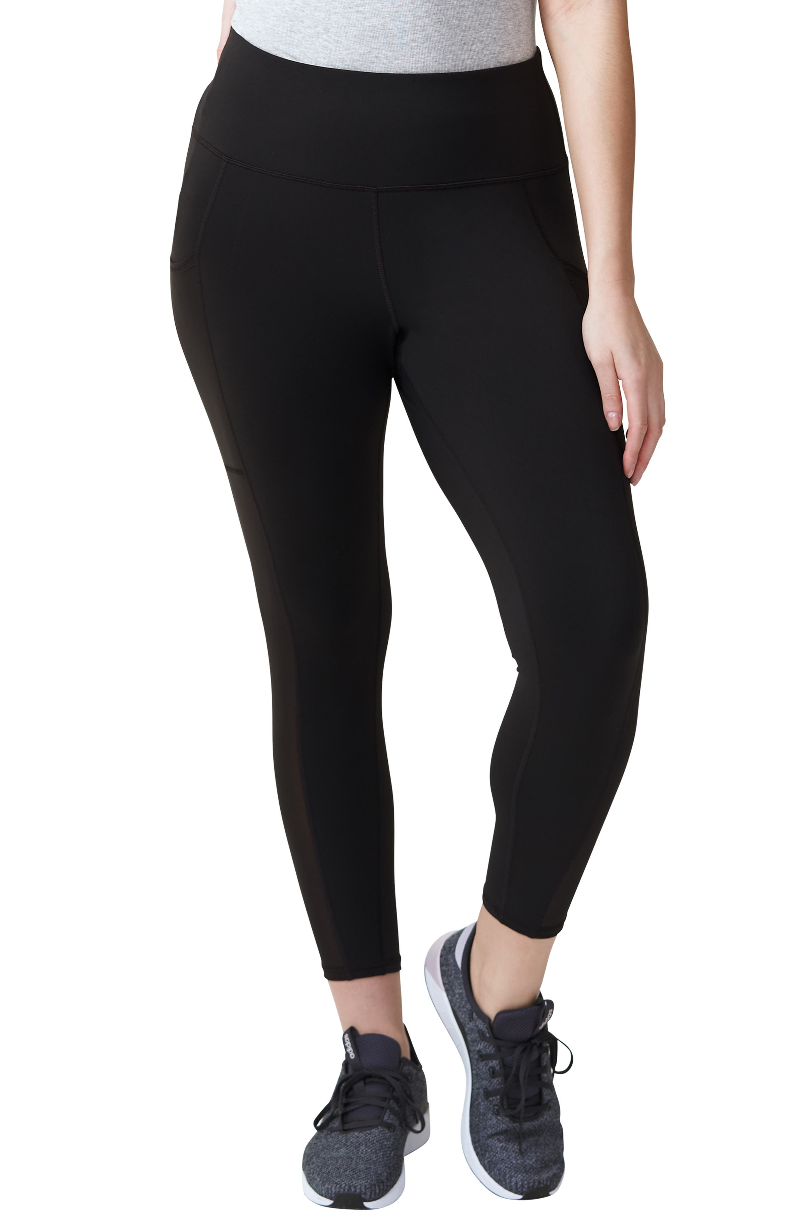 Plus Size Universal Standard Movement Mesh Crop Leggings, Size M (18W-20W) - Black