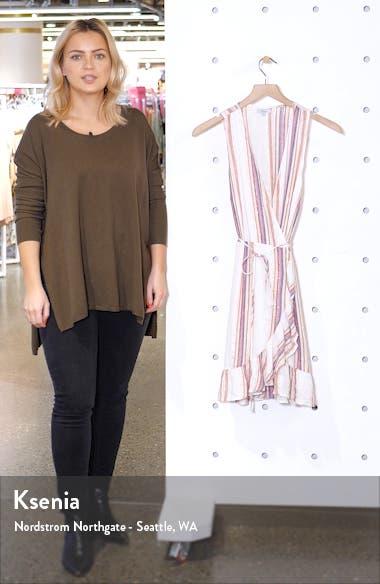 Madison Ruffle Sleeveless Wrap Dress, sales video thumbnail