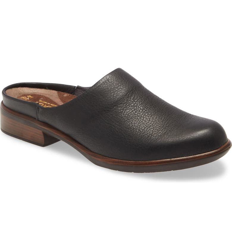 NAOT Lodos Mule, Main, color, SOFT BLACK LEATHER