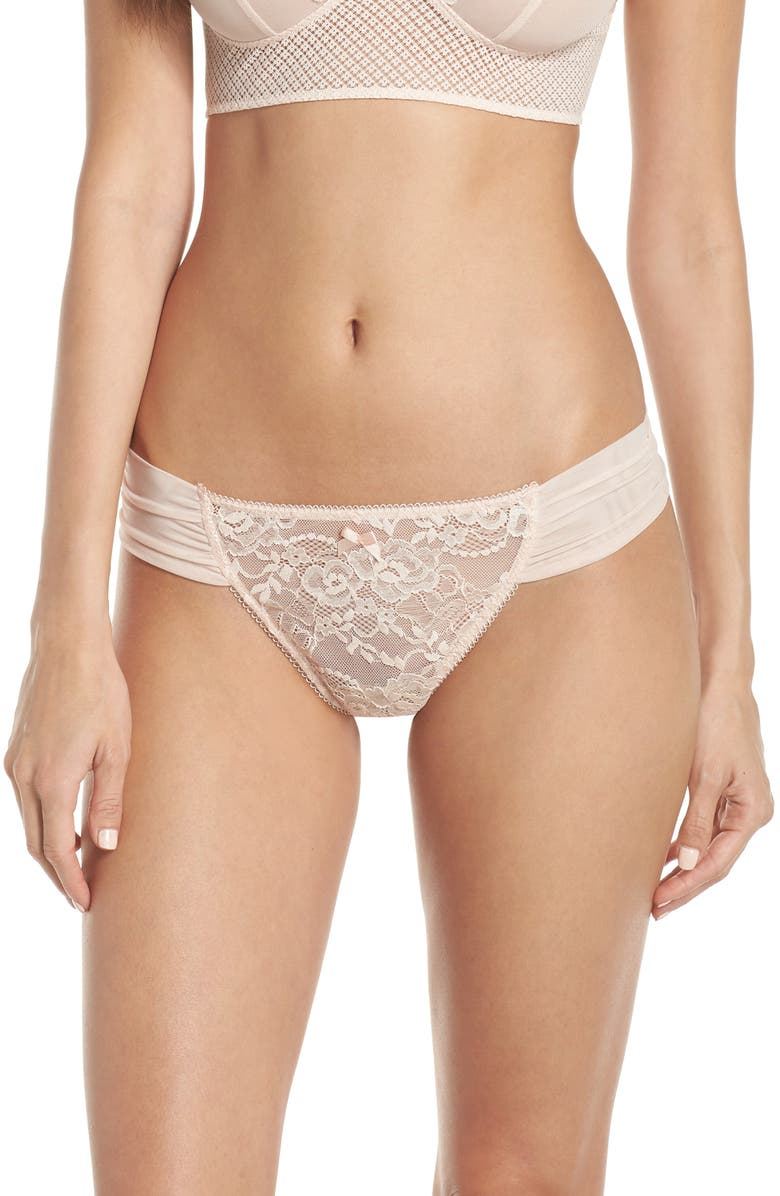 CHELSEA28 I Do Lace Thong, Main, color, 680