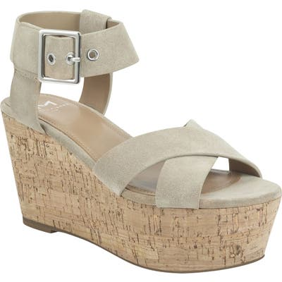 Marc Fisher Ltd Cacie Platform Sandal- Beige