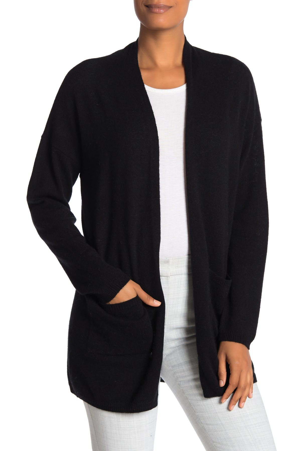 Image of M Magaschoni Open Front Cashmere Cardigan