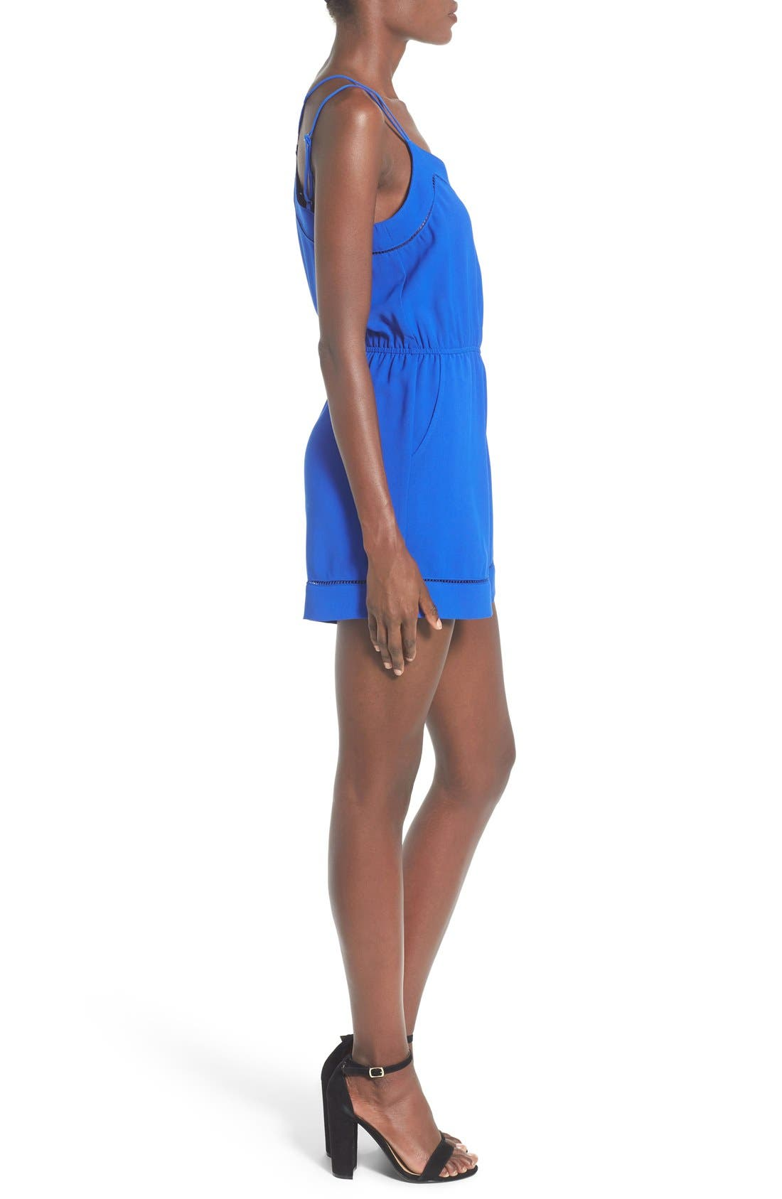 ,                             Strappy Woven Romper,                             Alternate thumbnail 4, color,                             405
