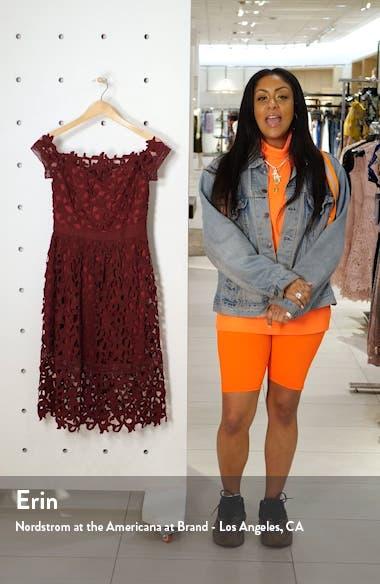 Off the Shoulder Lace Cocktail Dress, sales video thumbnail