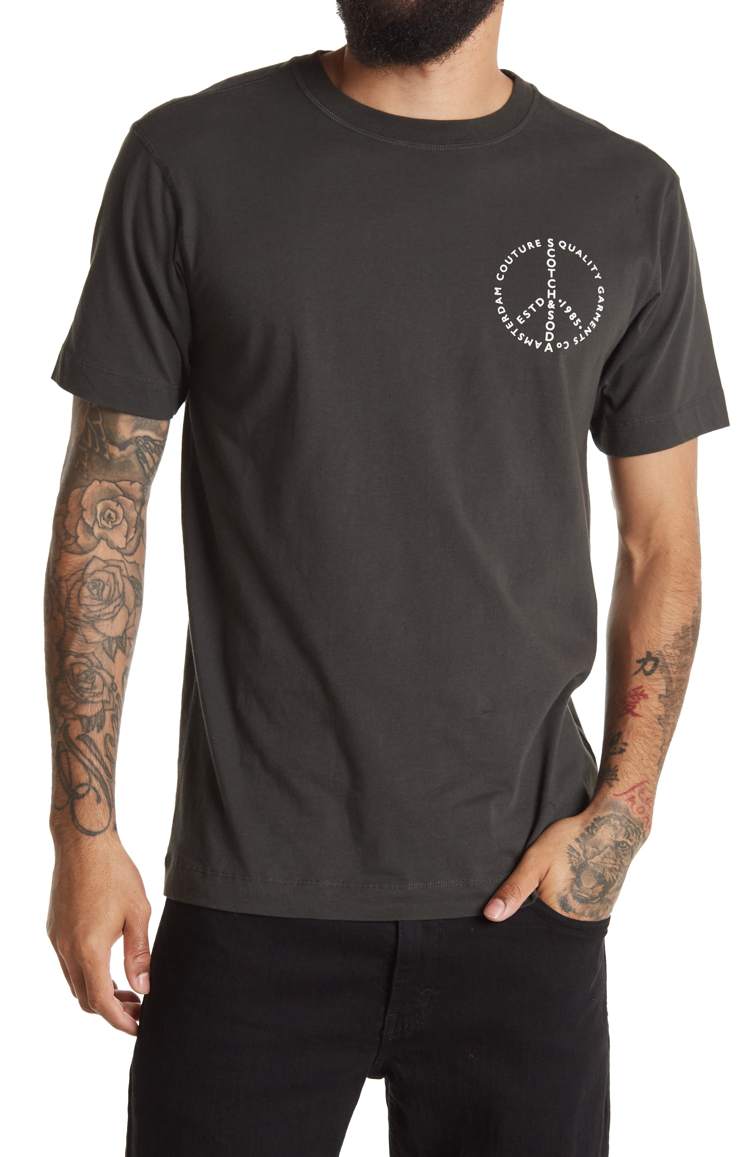 Image of Scotch & Soda Graphic Crew Neck T-Shirt