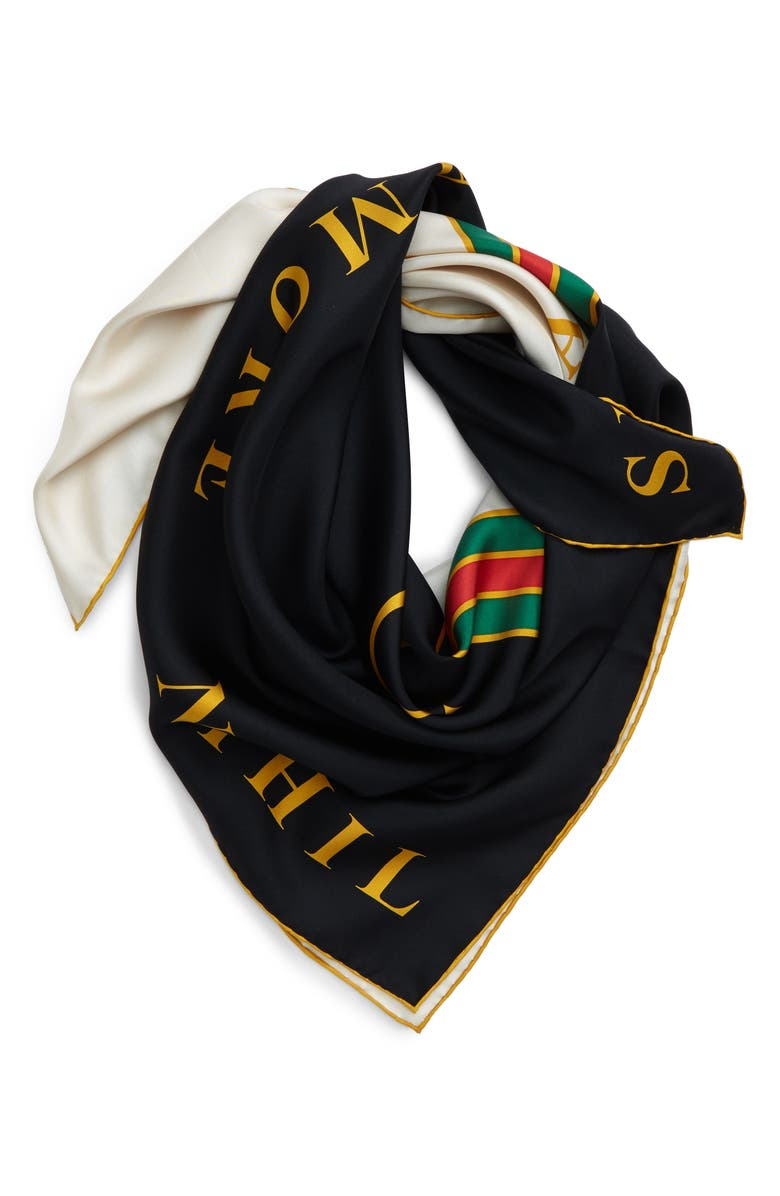 GUCCI Profumo Twill Square Scarf, Main, color, IVORY/ BLACK