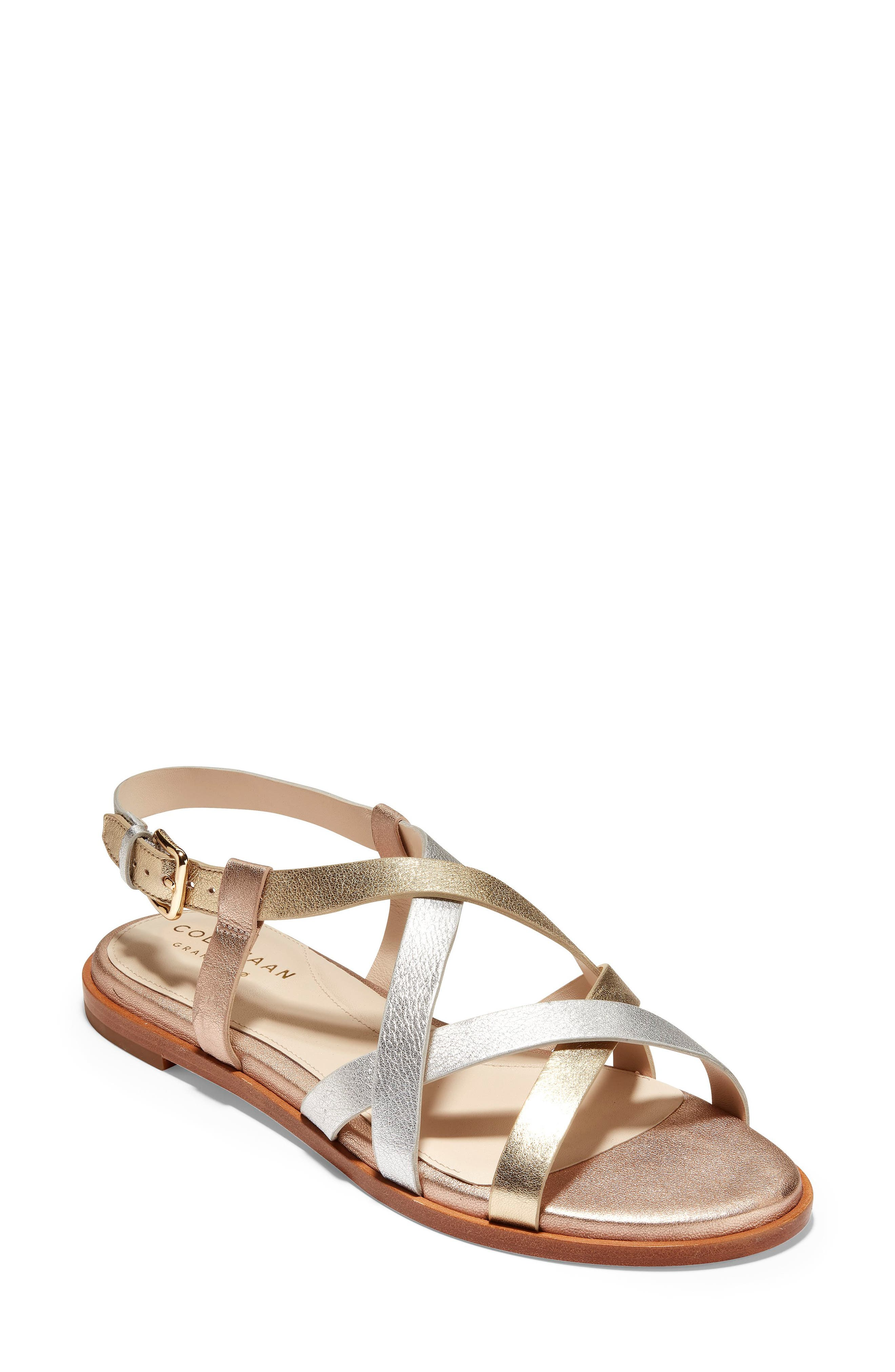 Cole Haan Analeigh Strappy Sandal, Metallic