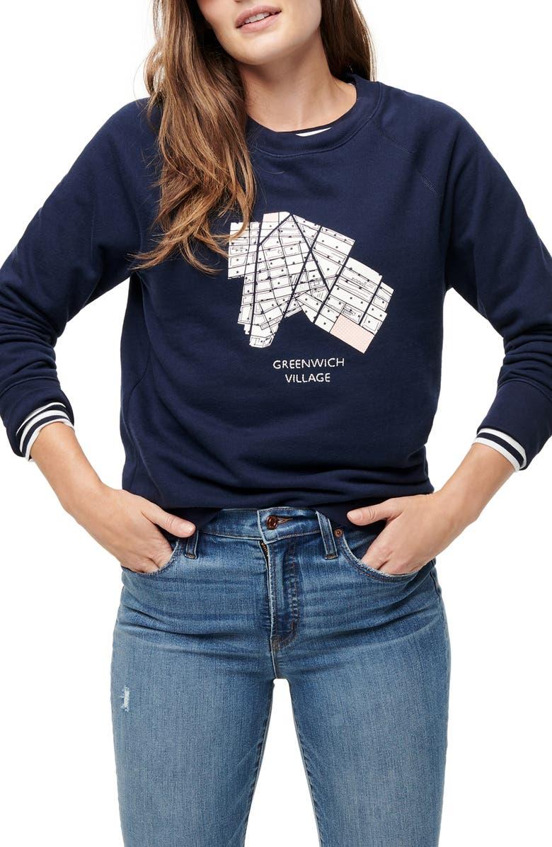 J.CREW Greenwich Village Pullover Sweatshirt, Main, color, 400