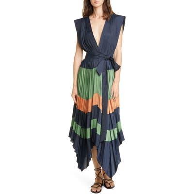 Ulla Johnson Mayshe Handkerchief Hem Dress, Blue