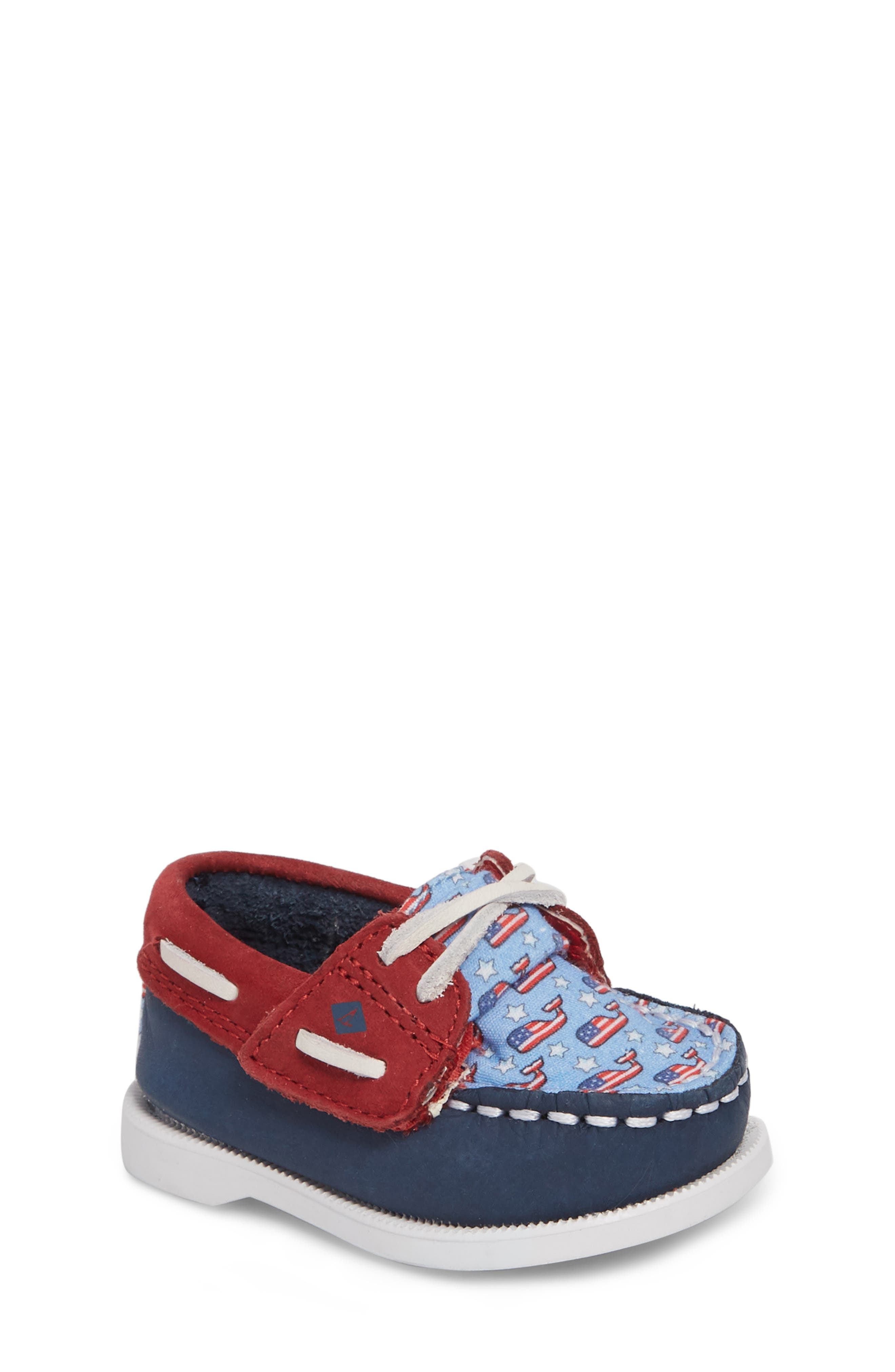 Infant Sperry Kids Authentic Original Crib Boat Shoe, Blue