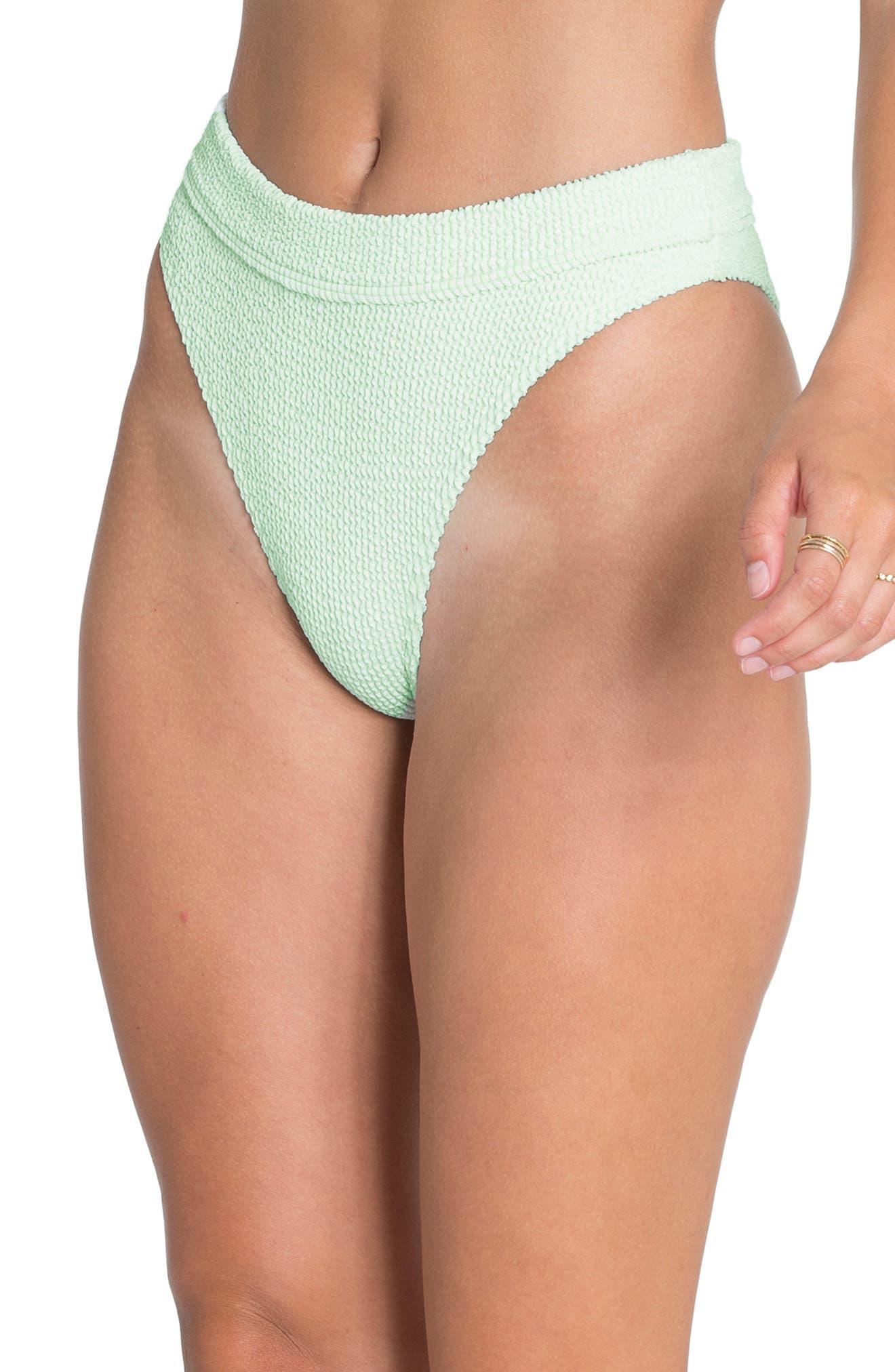 ,                             Summer High Maui Ribbed Bikini Bottoms,                             Alternate thumbnail 4, color,                             SEASPRAY
