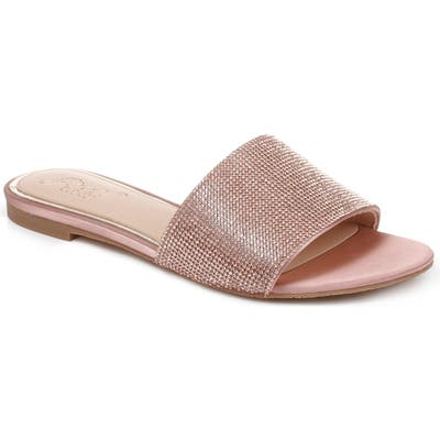 Jewel Badgley Mischka Khaleesi Crystal Slide Sandal, Pink