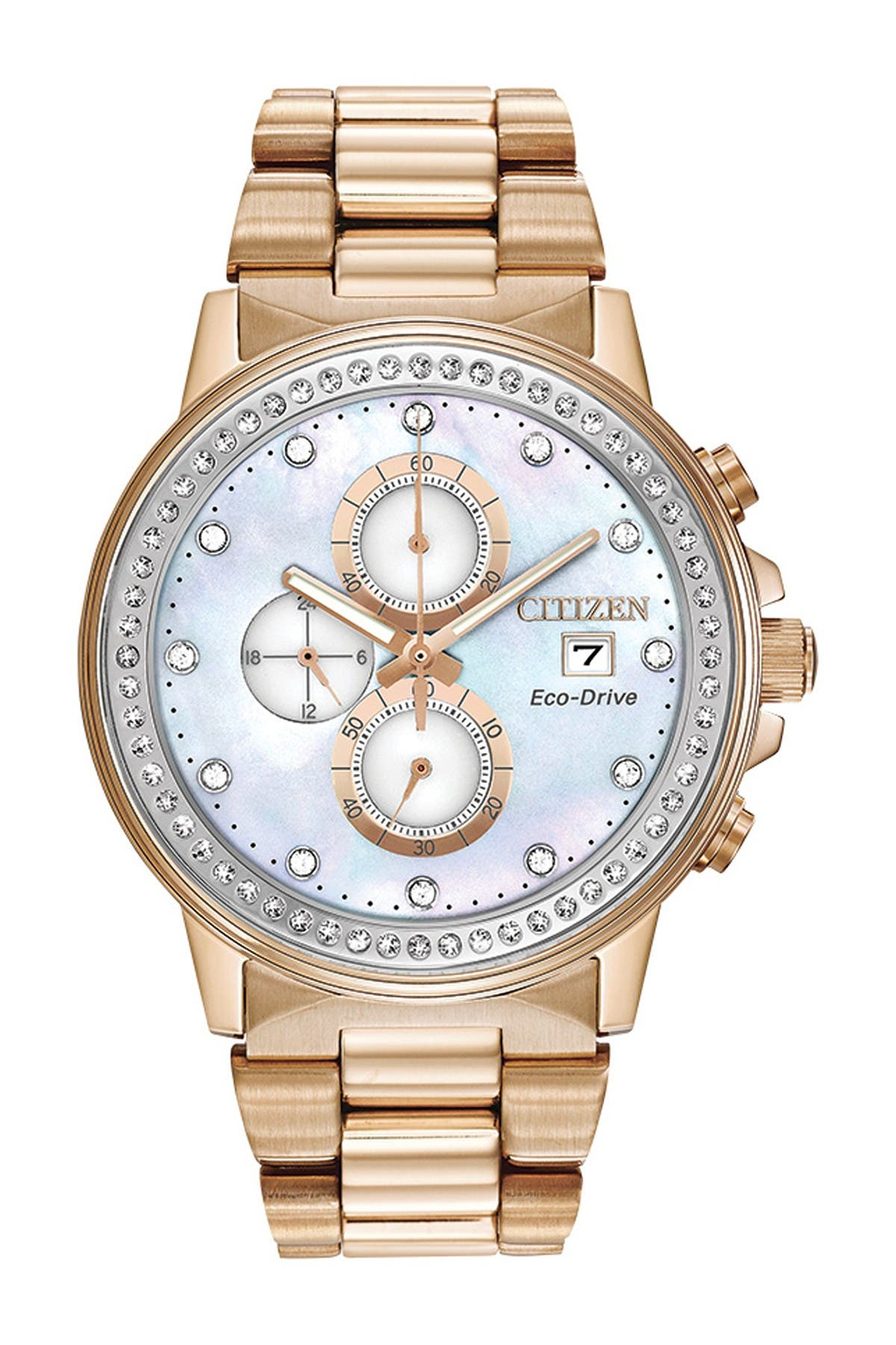 Image of Citizen Men's Chandler Eco-Drive Pearl Date Watch, 42mm