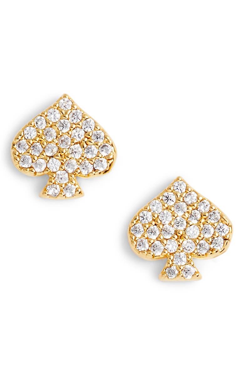 KATE SPADE NEW YORK things we love spade stud earrings, Main, color, 710