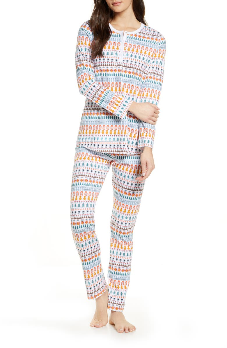 ROLLER RABBIT Bands Weave Pajamas, Main, color, 100
