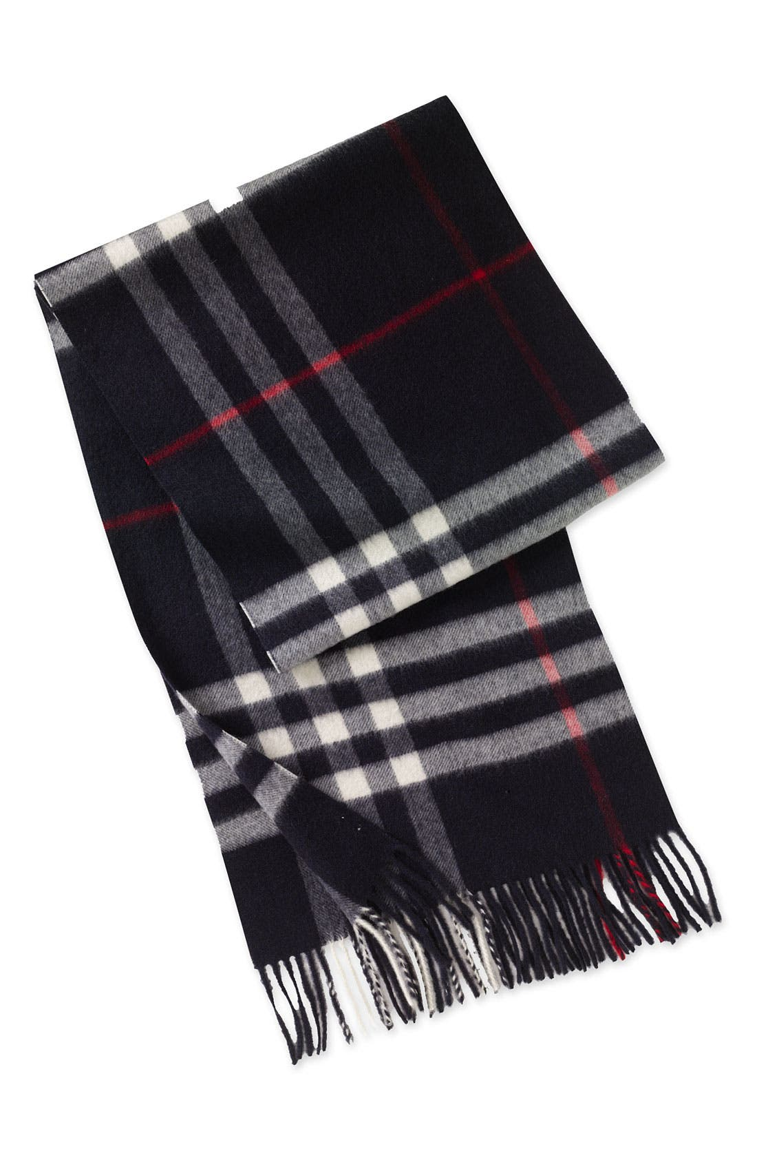 ,                             Heritage Check Cashmere Scarf,                             Main thumbnail 28, color,                             410