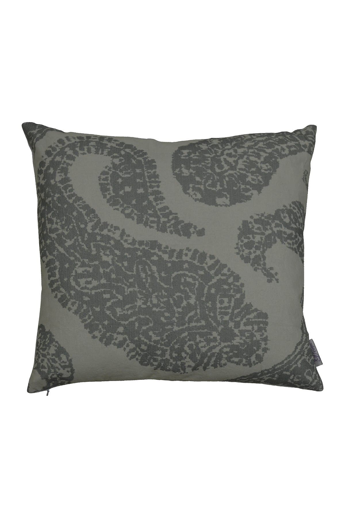 "Image of DIVINE HOME Gray Overscale Paisley Throw Pillow - 20""x20"""