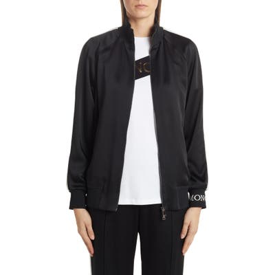 Moncler Camicia Logo Track Jacket, 8 IT - Black