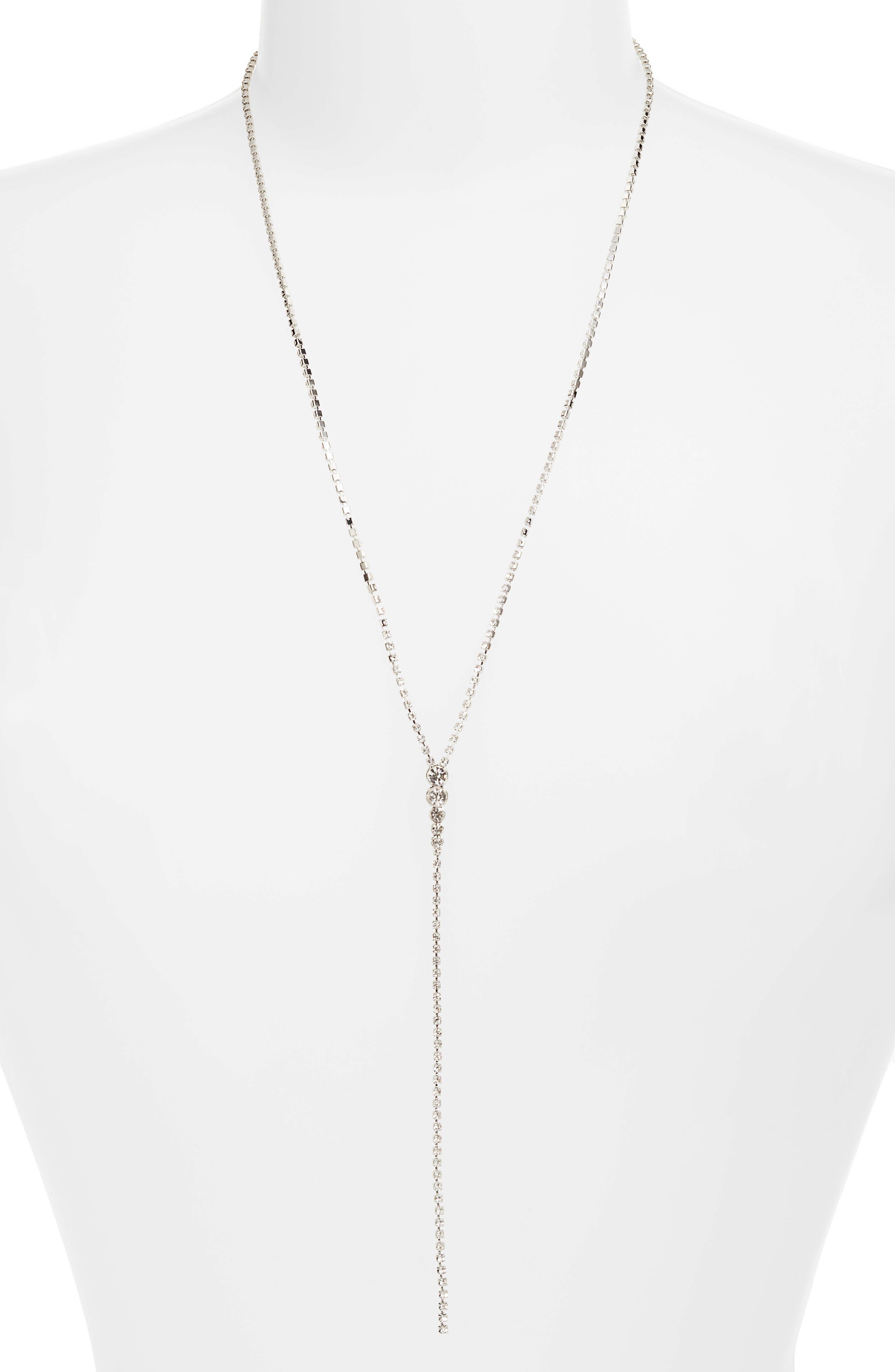 Multi Stone Y-Necklace