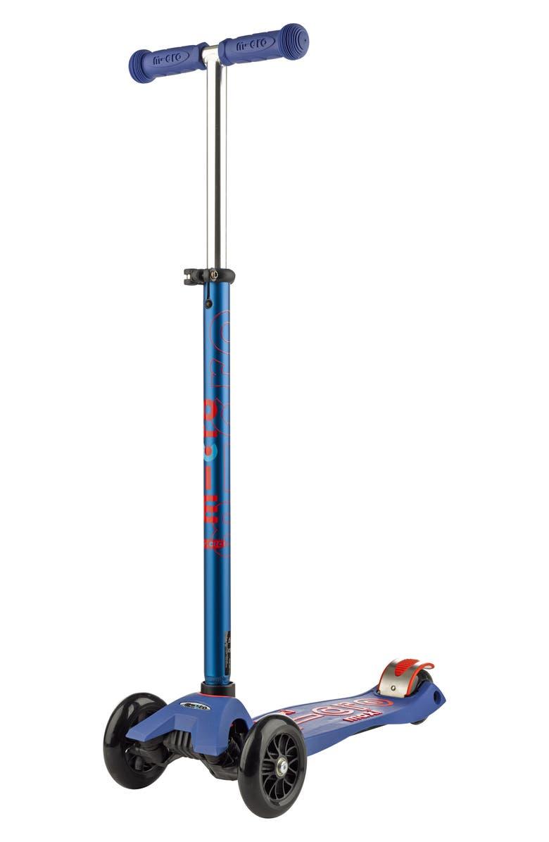 MICRO KICKBOARD Maxi Deluxe Kick Scooter, Main, color, BLUE
