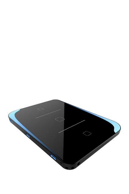 Image of PRESS PLAY Chargewave Powerstation Fast QI 6-in-1 Charge Device - Black