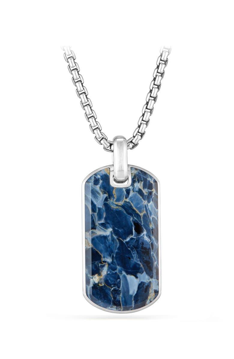 DAVID YURMAN Exotic Pietersite Stone Tag, Main, color, PIETERSITE