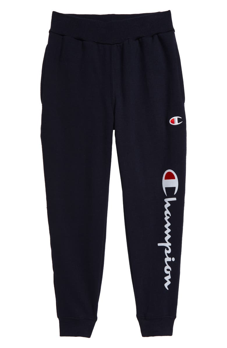 Flocked Logo Sweatpants by Champion