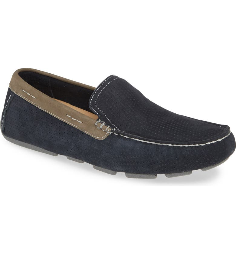 1901 Cambria Driving Shoe, Main, color, NAVY/GREY NUBUCK