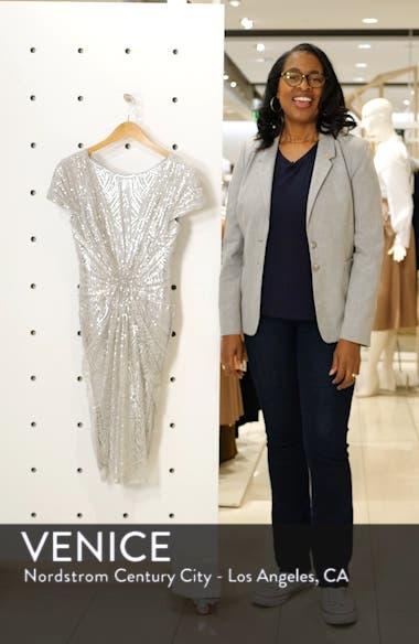 Sequin Embellished Sheath Dress, sales video thumbnail