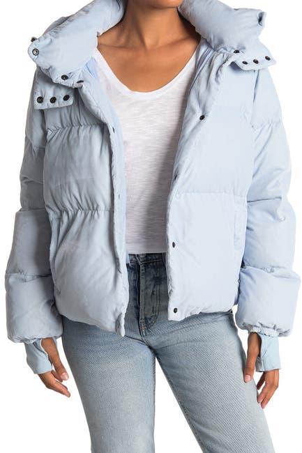 Image of SAM Sydney Velvet Hooded Down Puffer Jacket