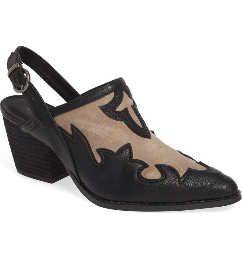 COCONUTS BY MATISSE Long Road Slingback Mule, Main, color, BLACK
